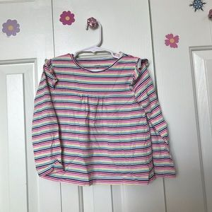 Striped Multi-Colored Baby Doll Top